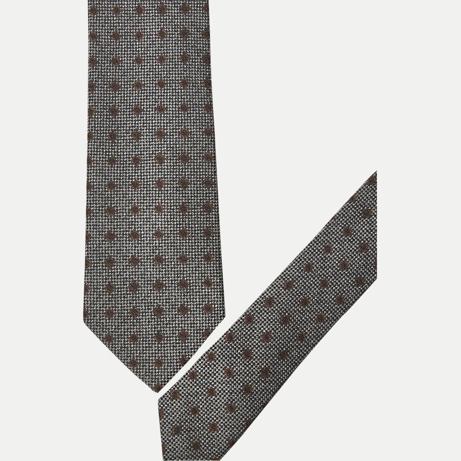 9111CR - Krawatten - GRÅ / BRUN - 2